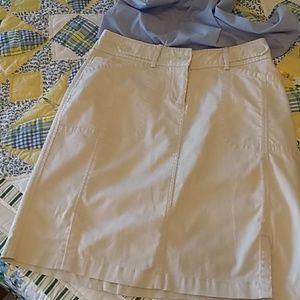 Christopher & Banks cream, stretchy cotton skirt